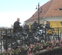 BMW GS rented in Sibiu, on Liars Bridge